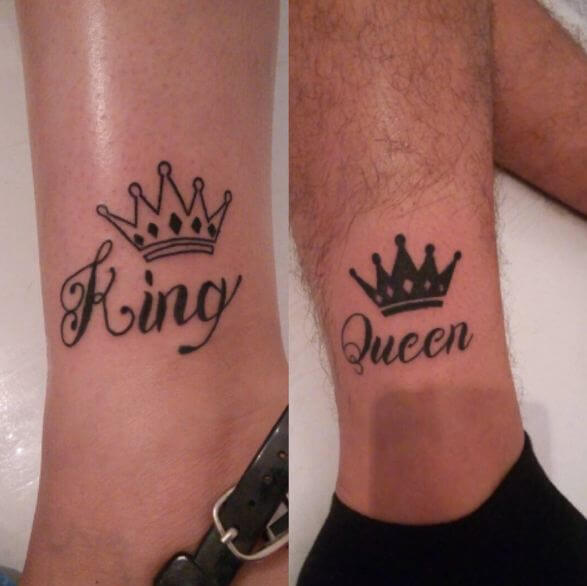King And Queen Tattoo Font
