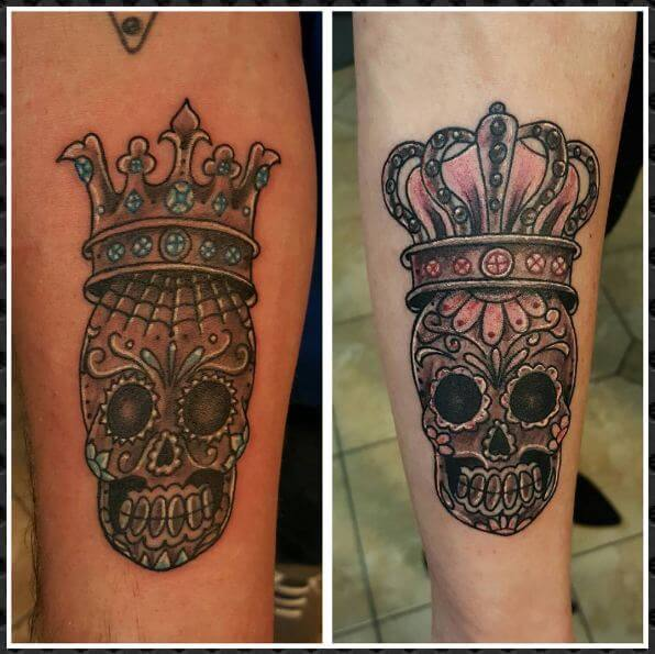 Skeleton King And Queen Tattoo