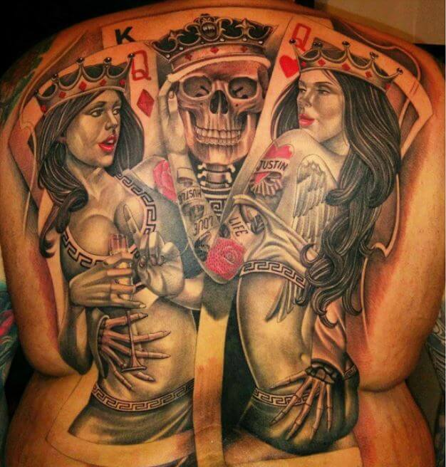 African King And Queen Tattoos