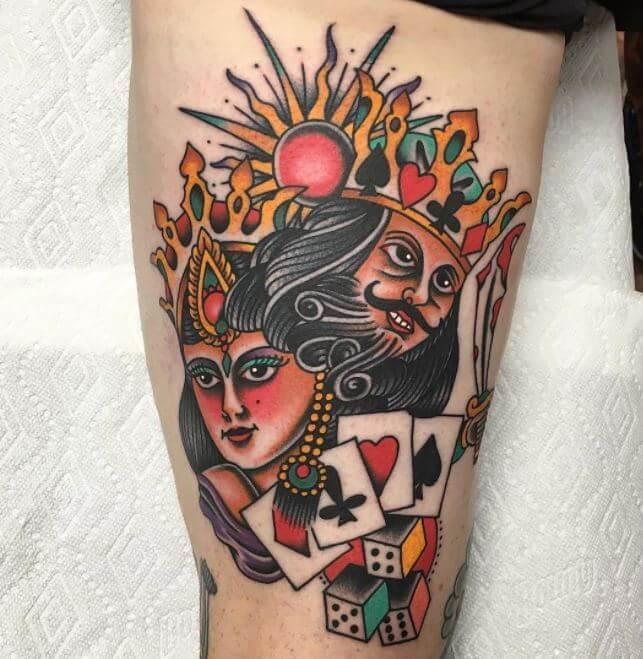 Cool King And Queen Tattoos