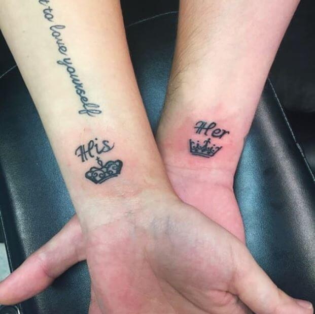 Her King And His Queen Tattoos