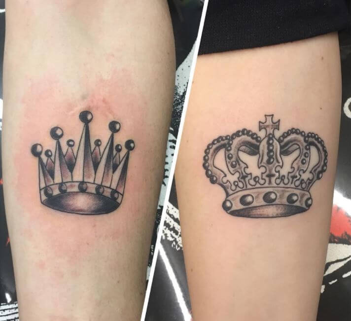 King And Queen New Tattoos