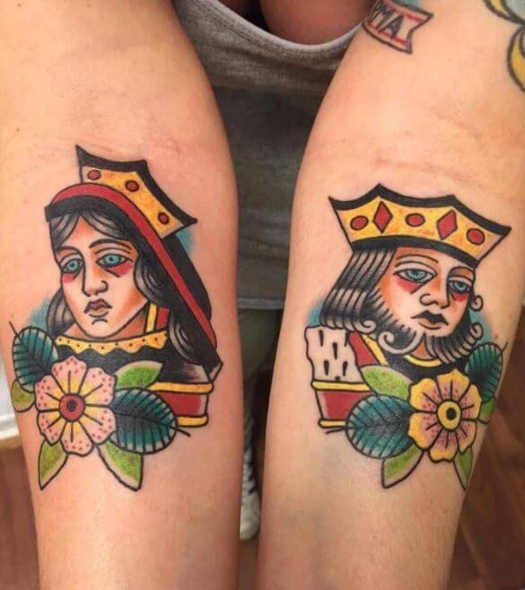 King And Queen Tattoos Designs