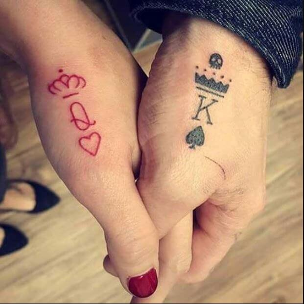 King And Queen Tattoos Images
