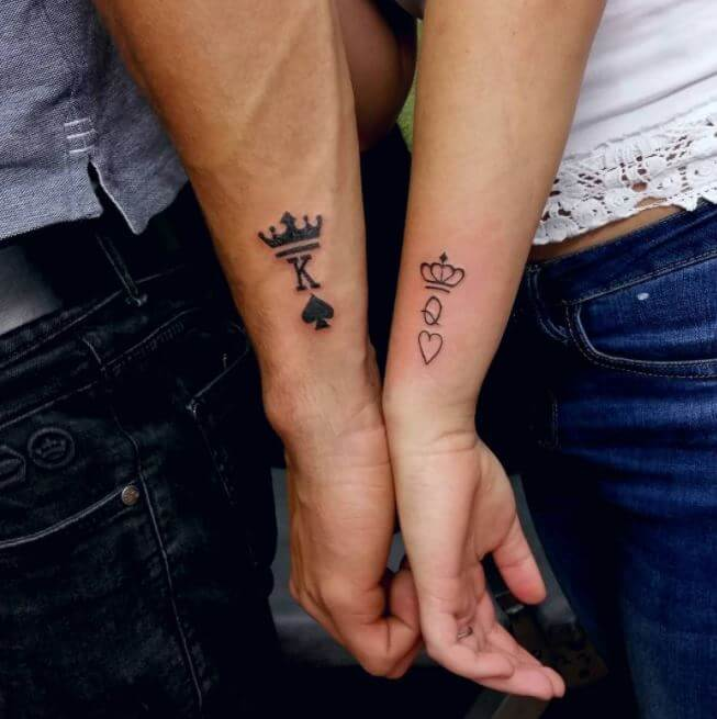 King And Queen Wrist Tattoo