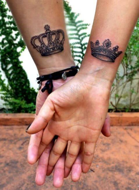 Latest King And Queen Tattoos