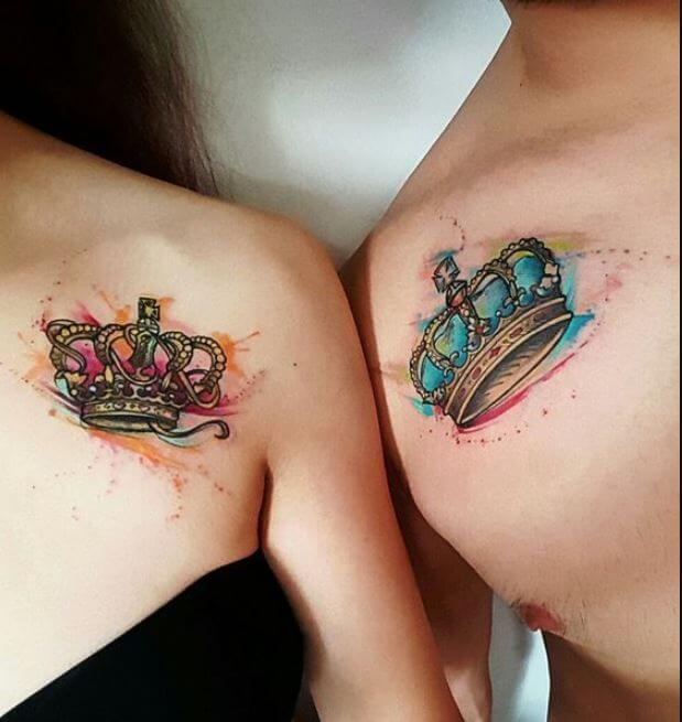 Matching Tattoos King And Queen