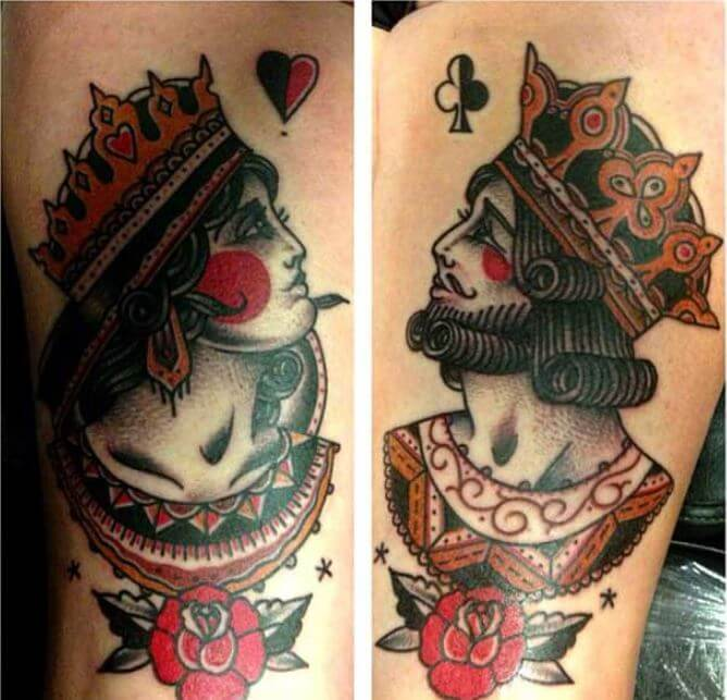 Queen And King Tattoos (1)