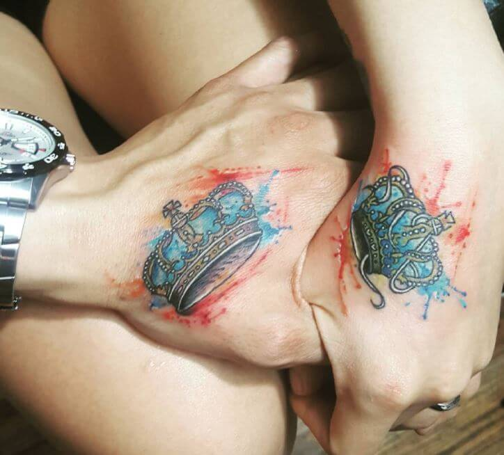 Queen And King Crown Tattoos (1)