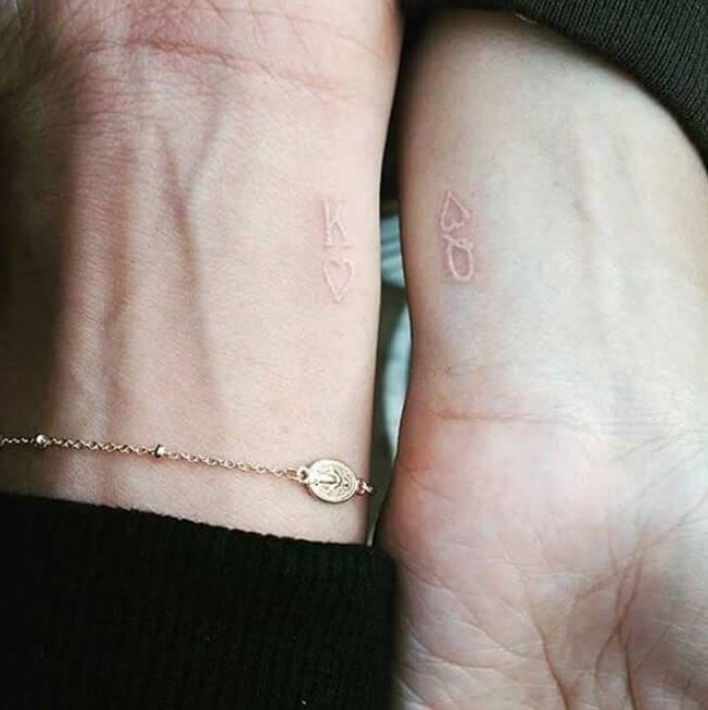White King And Queen Tattoos On Wrist