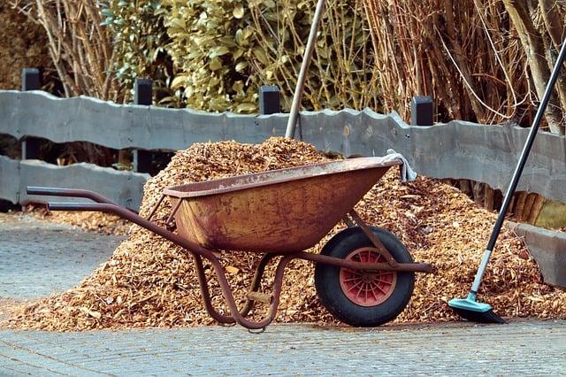 3 Wheelbarrow and Mulch