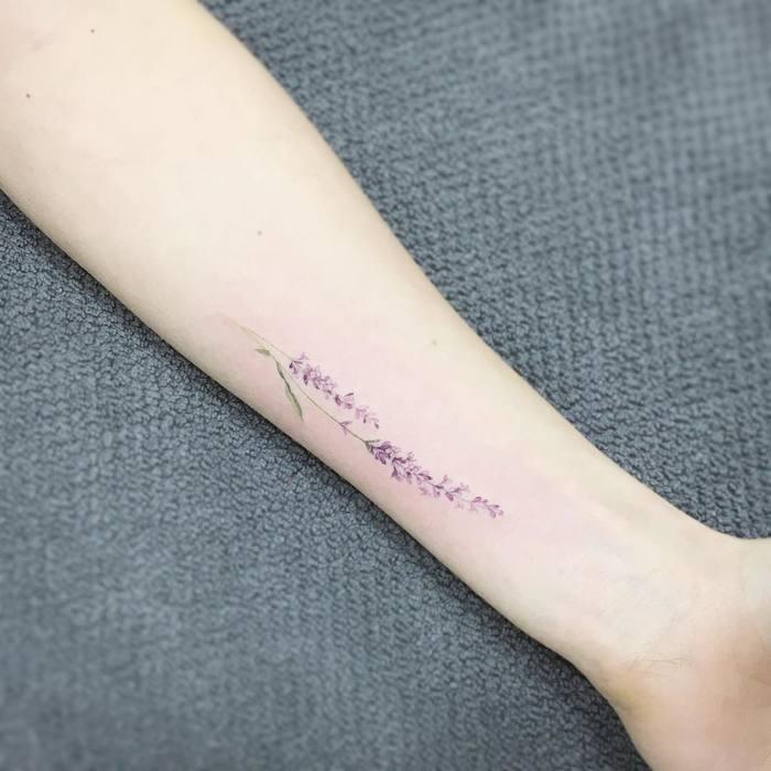 Delicate Lavender Tattoo