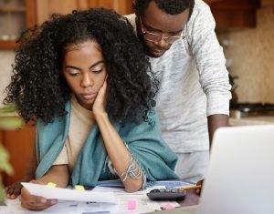 couple having many debts