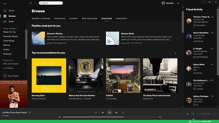 Spotify for Windows 10 Screenshot