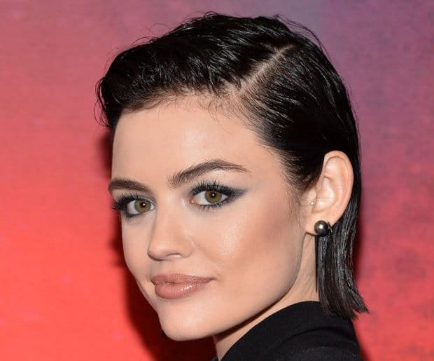 Best Hair Color for Green Eyes: Lucy Hale
