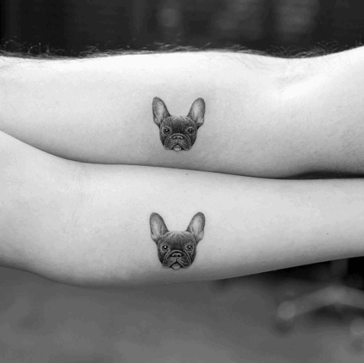 Couples Tattoos Dog Side Of Hand