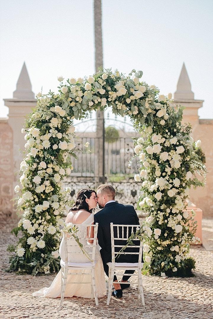 Lucas and Victoria's Romantic White and Green Mallorca Wedding by Mihiz Studio