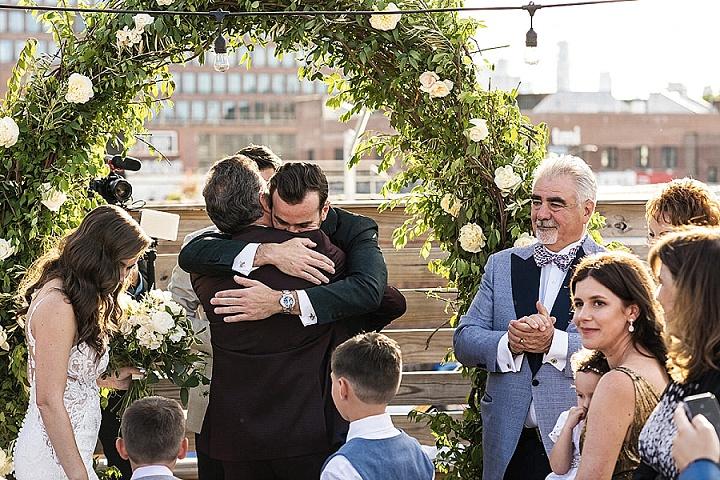 Boris and Lana's Elegant Brooklyn Roof Top Wedding by Stock Studio