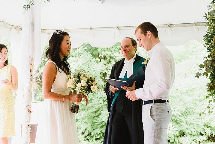 Satco and Ian's Simple Backyard Wedding with 1000 Paper Cranes by Natalia Juke Photography