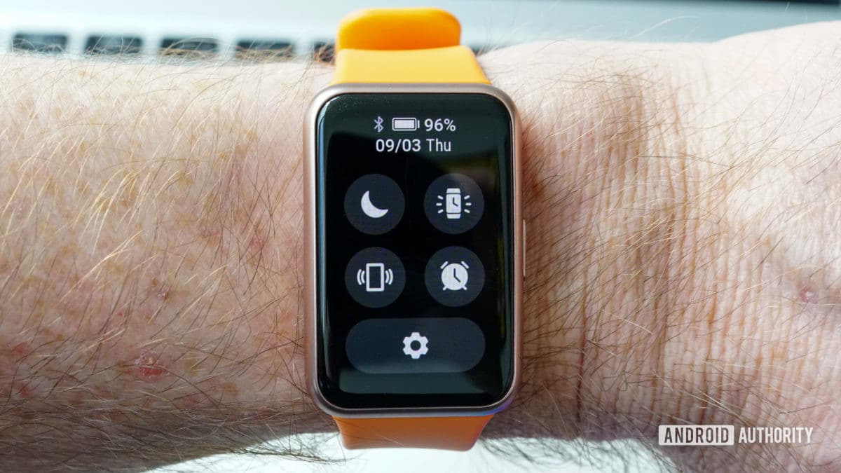Huawei Watch Fit Quick Settings