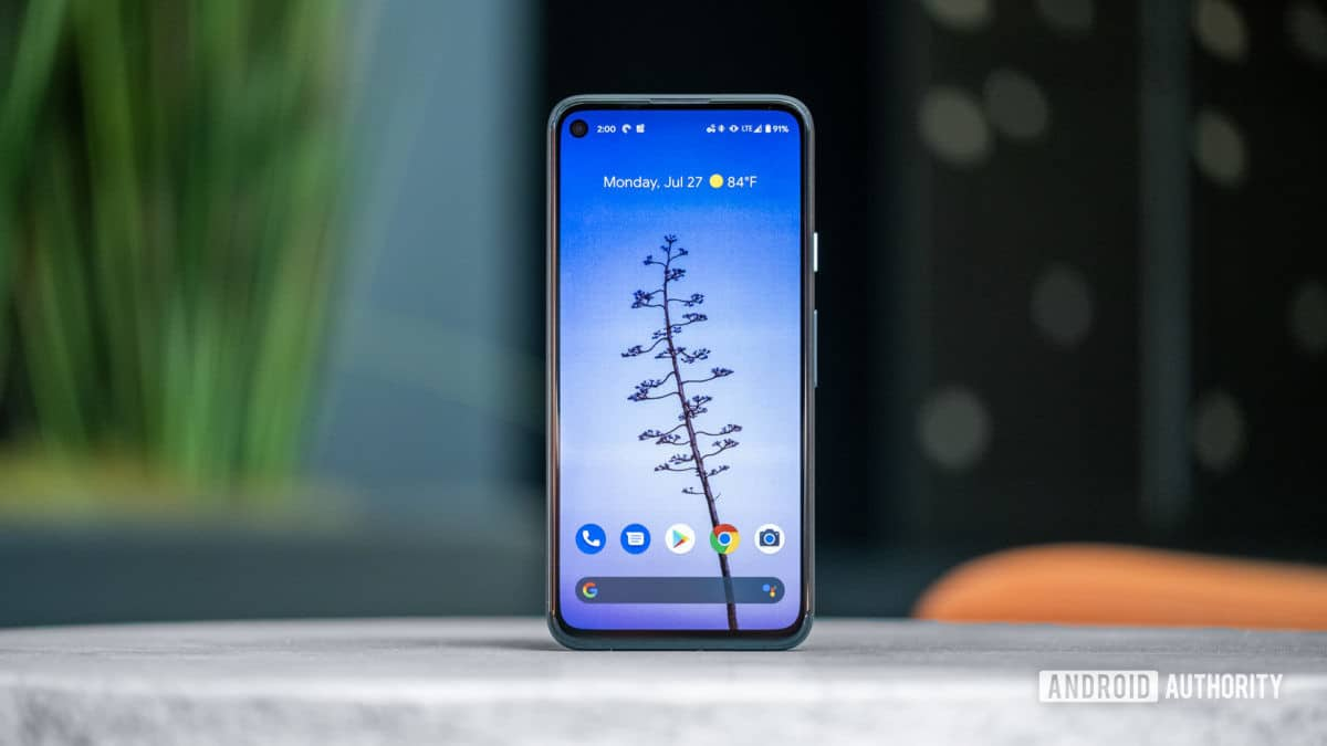 Google Pixel 4a Display Straight 2 Standing