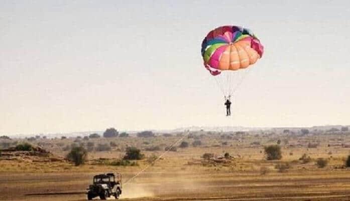 Enjoy parasailing
