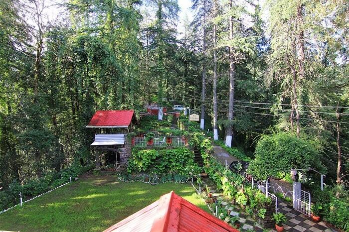 Beautiful facade of British Resort - One of the most alluring resorts in Shimla