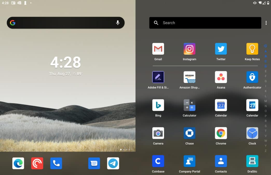 Microsoft Surface Duo bug missing app on dock