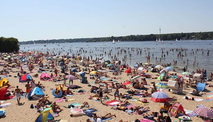 Vansee beach in germany