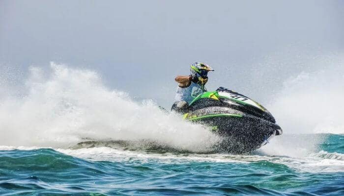 Jet skiing is the best skiing