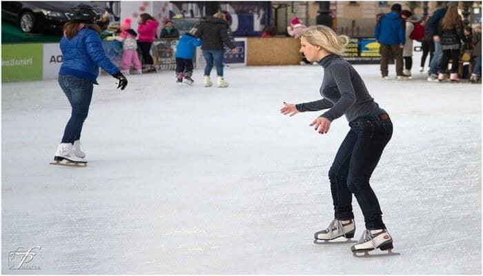 Ice skating scene