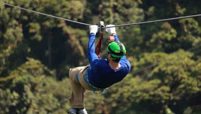 zip line is the best fun activity