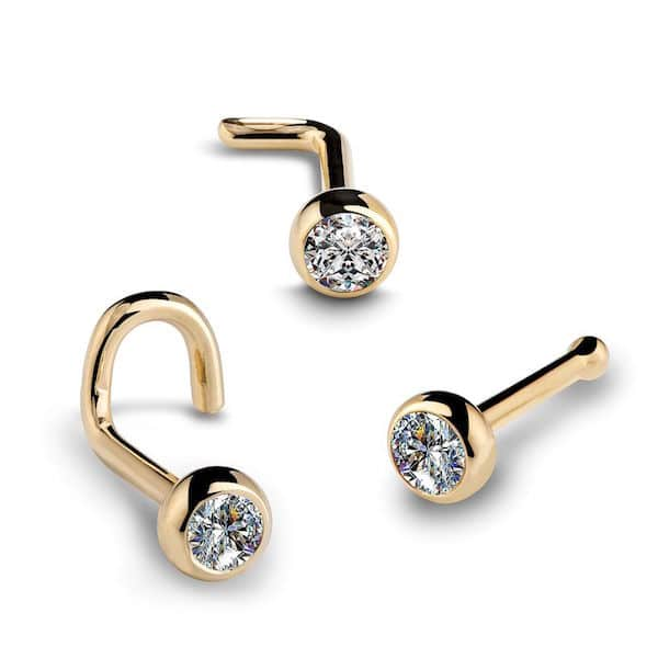 Three diamond nose ring rivets from FreshTrends
