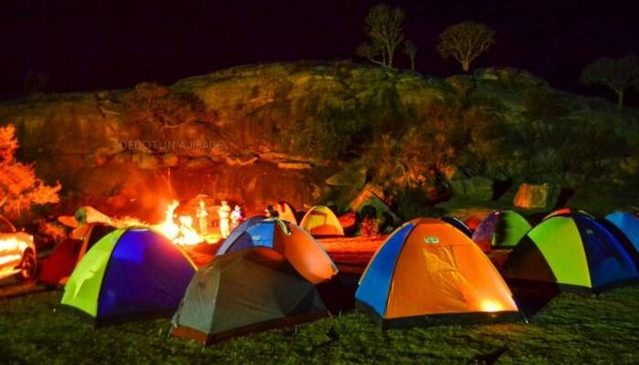 Camping is the best activity