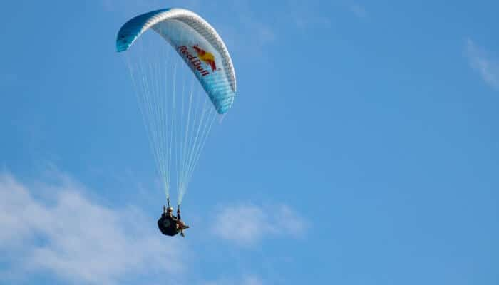 Paragliding is the best activity