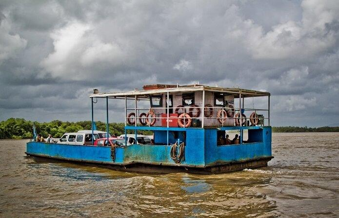 Ferries are the best and beautiful means of transportation in North Goa