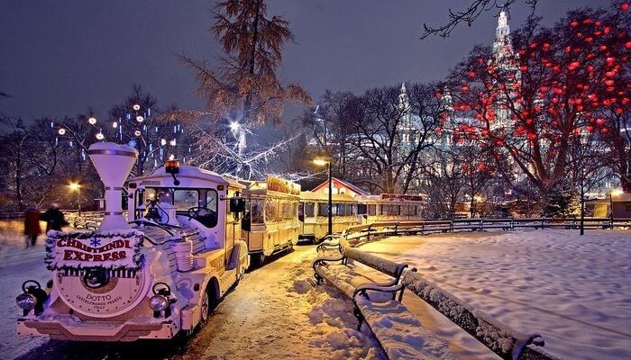 Winter weather in Vienna