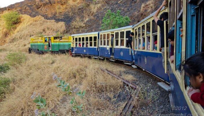 Matheran Toy Train gives you a delightful area