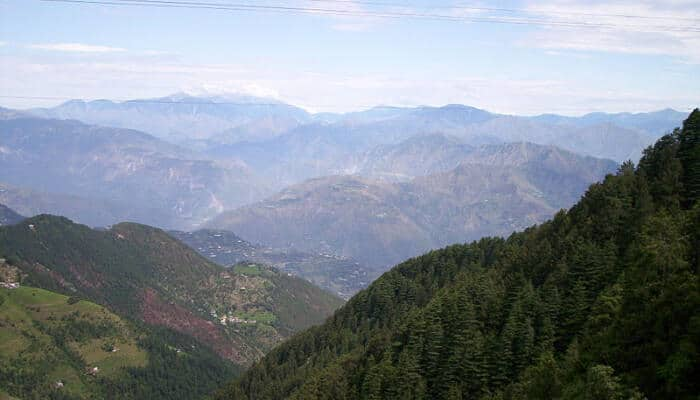 Beautiful hills in Dalhousie