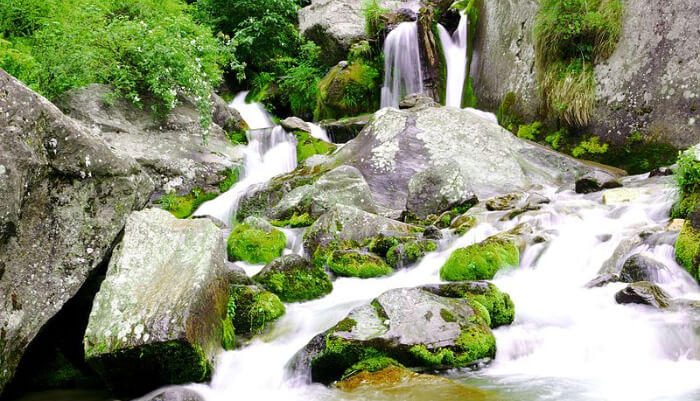Panchpula waterfall in Dalhousie
