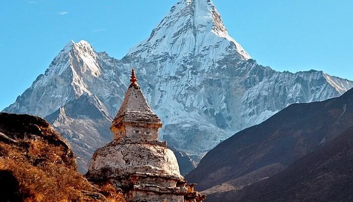 beautiful view of the mountain peak