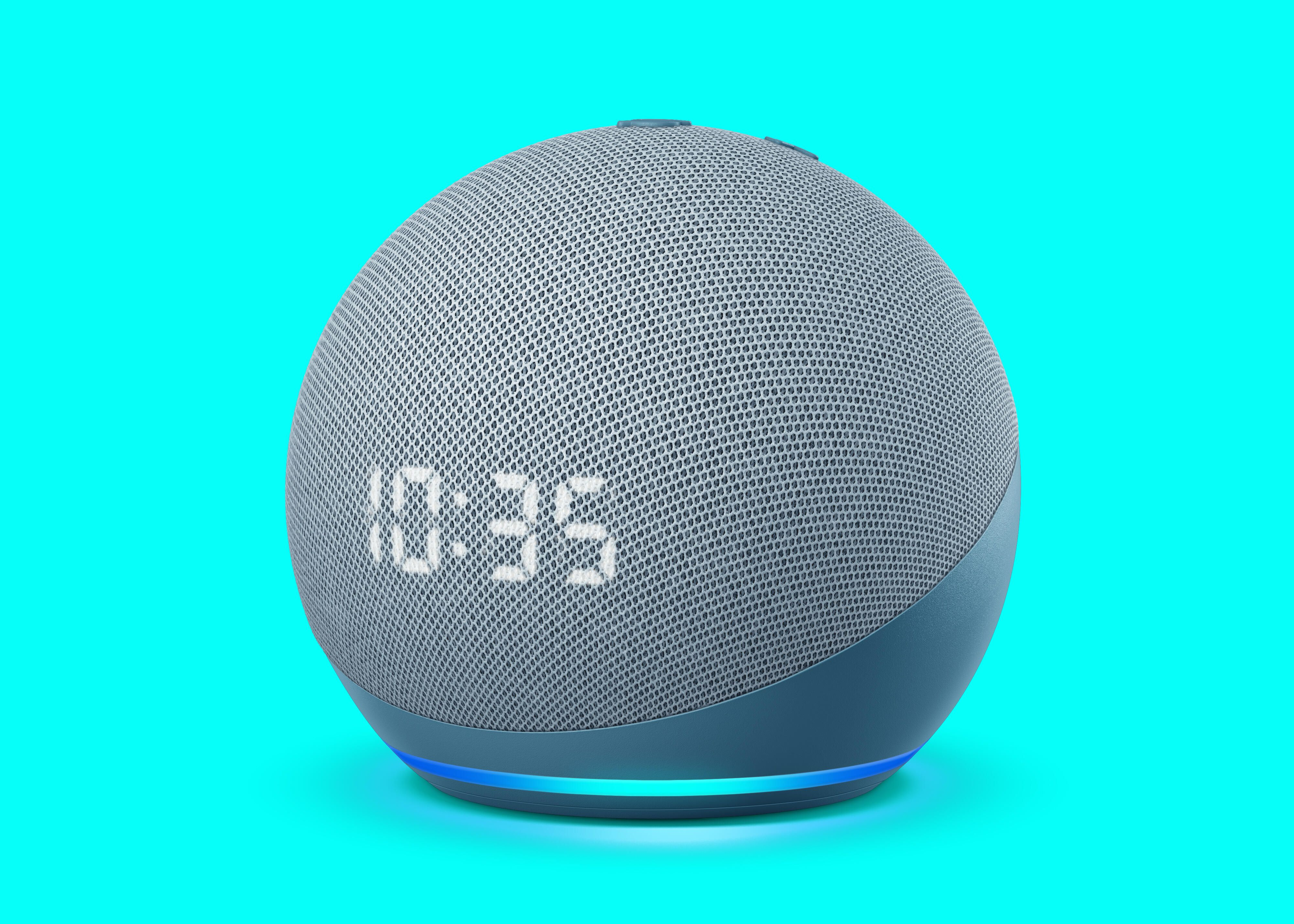 All new echo dot with clock