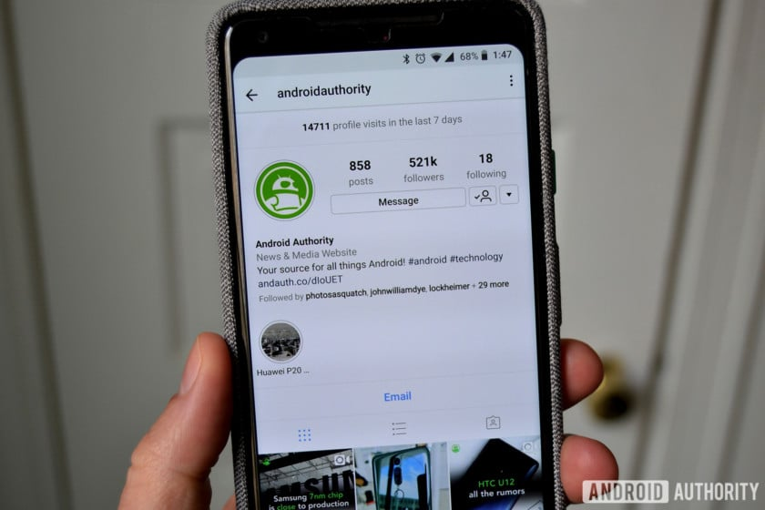 Android Authority Instagram Profile