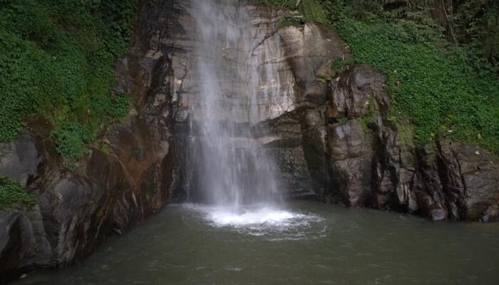 Seven flowing waterfall is famous