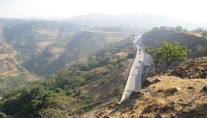 Road view from hill