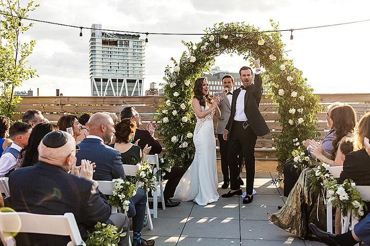 Boris and Lana's Elegant Brooklyn Roof Top Wedding by Stark Studios