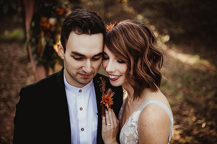 Rebecca and Michael's Whimsical Fall Wedding in The Woods by Irish Eyes Photography