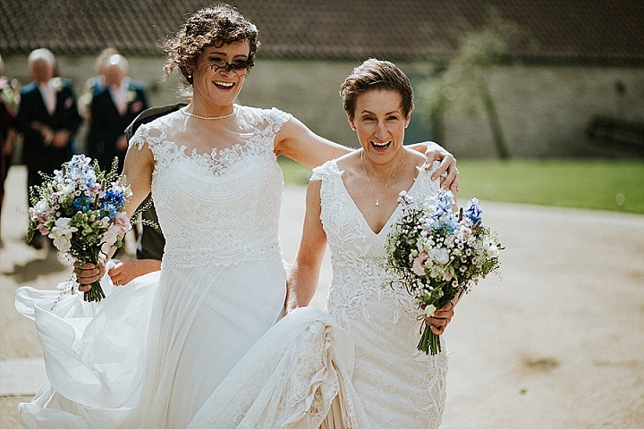 Louise and Anna's 'Rustic Countryside' Blue and Pink Bristol Wedding by MT Studios.