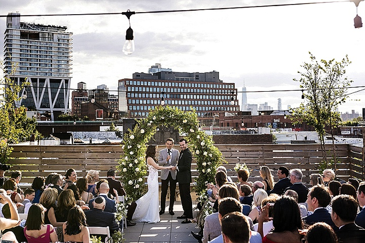 Boris and Lana's Elegant Brooklyn Roof Top Wedding by Stock Studio