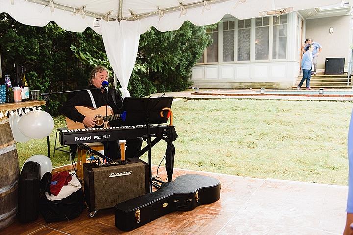 Satoko and Ian's Simple Backyard Wedding with 1000 Paper Cranes by Natalia Zuk Photography